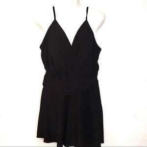 CAROL WIOR Black plus size 20 1PC Swimsuit Dress